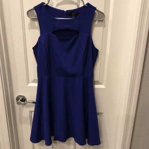 Royal blue cut out dress Forever 21