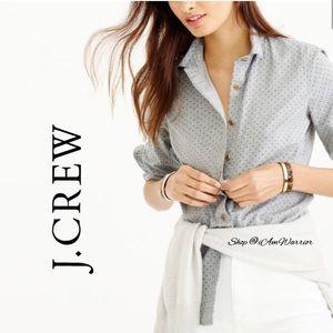 J. Crew polka dot button down shirt