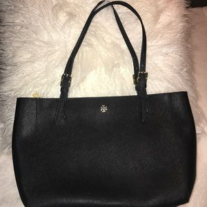 Tory Burch small York Buckle Tote Black