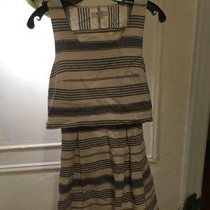 Madewell Linen Stripes 2pc Dress