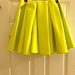 H&M Volt Green Mini skirt, Size 6