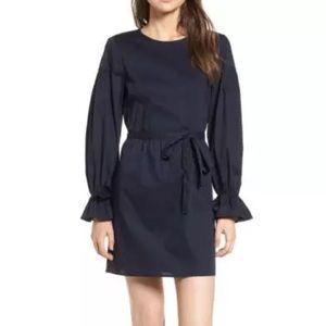 $75 NEW WAYF Jeane Bell Sleeve Poplin Dress