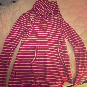 Hot pink striped hoodie
