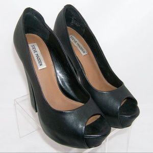 Steve Madden 'Haiiku' leather peep toe platform 9M