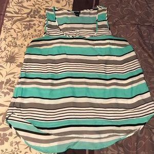 Torrid striped Georgette hi-lo sleeveless top