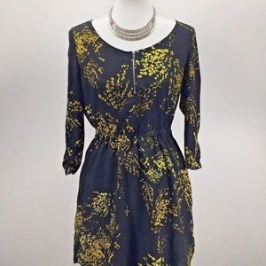 Zara Collection Womens Black and Yellow Dress