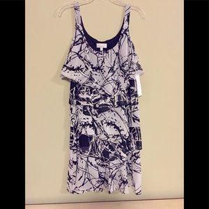 Robbi Bee White & Black Layer Dress Sz 12