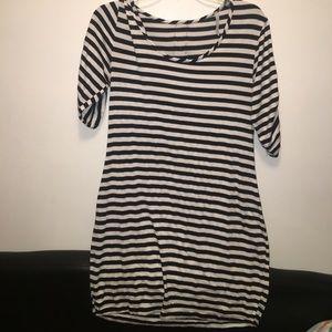 Striped body on dresss