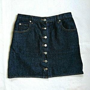 ASOS Button Through Denim Mini Skirt
