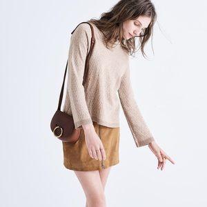 Madewell Mockneck Chevron Beige Sweater Small