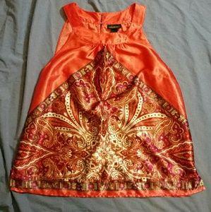 Lane Bryant Pink Paisley Sleeveless Blouse 16