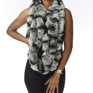Luxury Real Rex Rabitt Fur Scarf