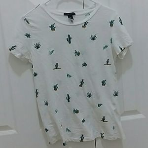 Forever21 Cactus Graphic T shirt