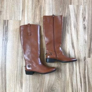 Brown Sam and Libby Vegan Leather Riding Boot 8