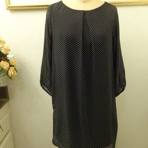 H&M Polka Dot Long Sleeve Shift Dress