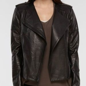 Vince quilted leather moto jacket