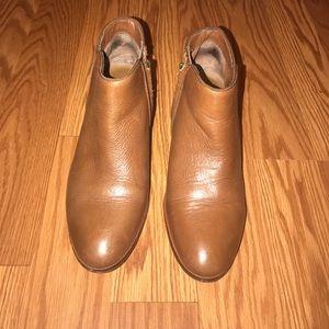 Sam Edelman Cognac Ankle Boots 6