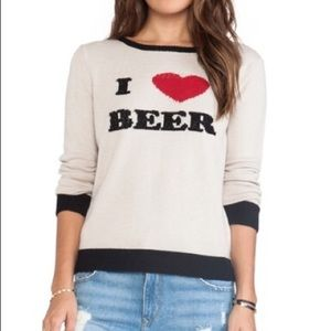 For Love and Lemons I Heart Beer Pullover Size M