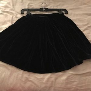 American Apparel velvet navy blue skater skirt