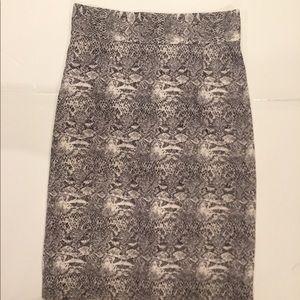 Snake pattern skirt