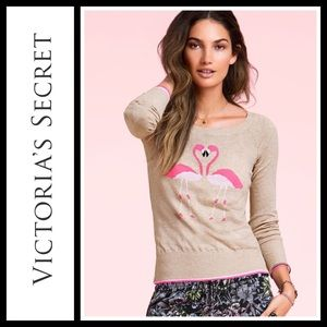 Victoria's Secret Essential Pink Flamingo Sweater
