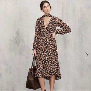 "The Reformation ""Galina"" midi length dress."