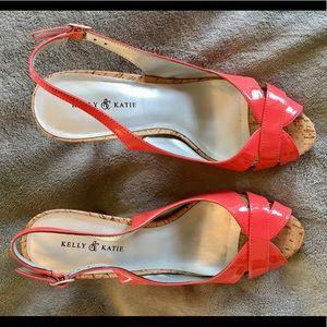 Kelly & Katie coral heels