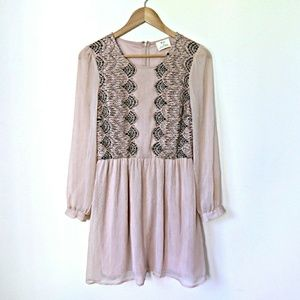 UO Lace Detailed Peasant Dress