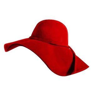 Red Wide Brimmed Floppy Hat