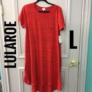 LuLaRoe Red Carly Dress NWT