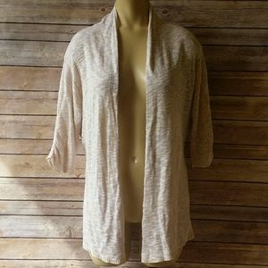 A.N.A Tan & White Cardigan Size XL