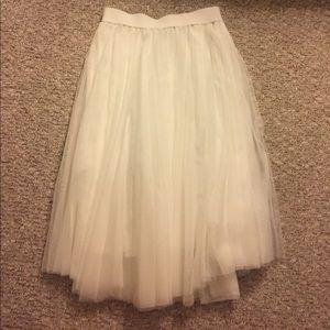 New Charlotte Russe White Tulle Skirt