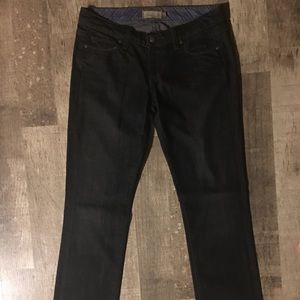 Paige low rise skinny jeans. 29