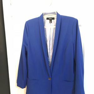 Royal blue long blazer jacket