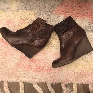 Frye leather booties, Size 6!