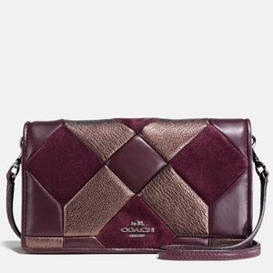 Oxblood & Bronze Canyon Quilt Leather Crossbody