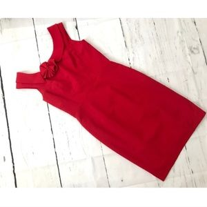{Calvin Klein} red midi cocktail holiday dress 4