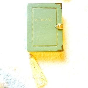 Book Fairytale Clutch Purse Asos mint gold magic