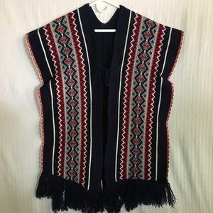 Vintage/Retro Uni-Sex Poncho