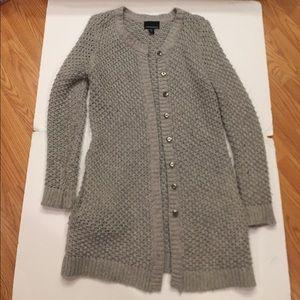 Long woven cardigan