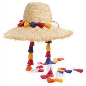 Kate Spade tassel sun hat backpack