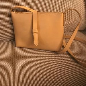 J.Crew Parker Cross Body Beige Leather Bag