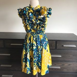 Forever 21 Ruffled Flowy Dress