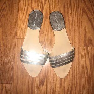 Zara Silver Slides 6