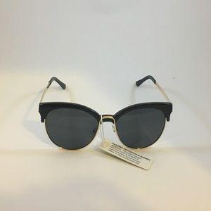 Half Rimmed Sunglasses in Black