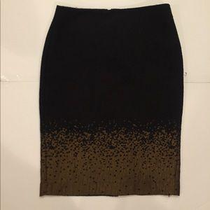 Black skirt with brown design on bottom