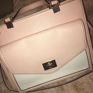 Light pink and white Kate Spade bag