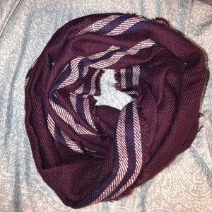 Burgundy plaid scarf