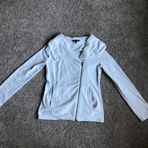 BR Asymmetrical zip up sweater