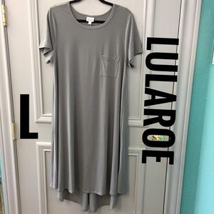 LuLaRoe Gray Carly Dress